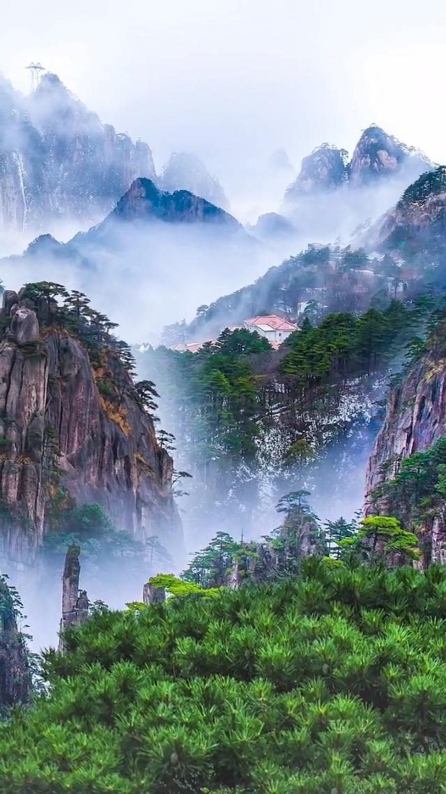 不去黄山走一走您都不知道水墨丹青画里的样子这里都有风景